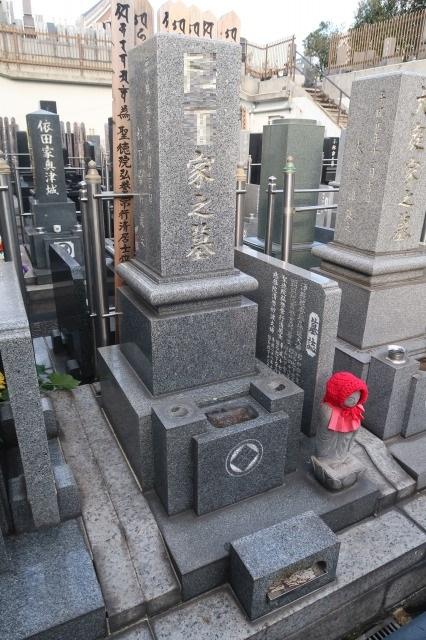 白御影墓石施工前